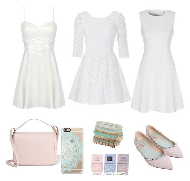 """Luv white with pastels"" by ammarah-razvi on Polyvore featuring Valentino, Lilly Pulitzer, True Decadence, Dolce&Gabbana, ALDO, Nails Inc. and Casetify"