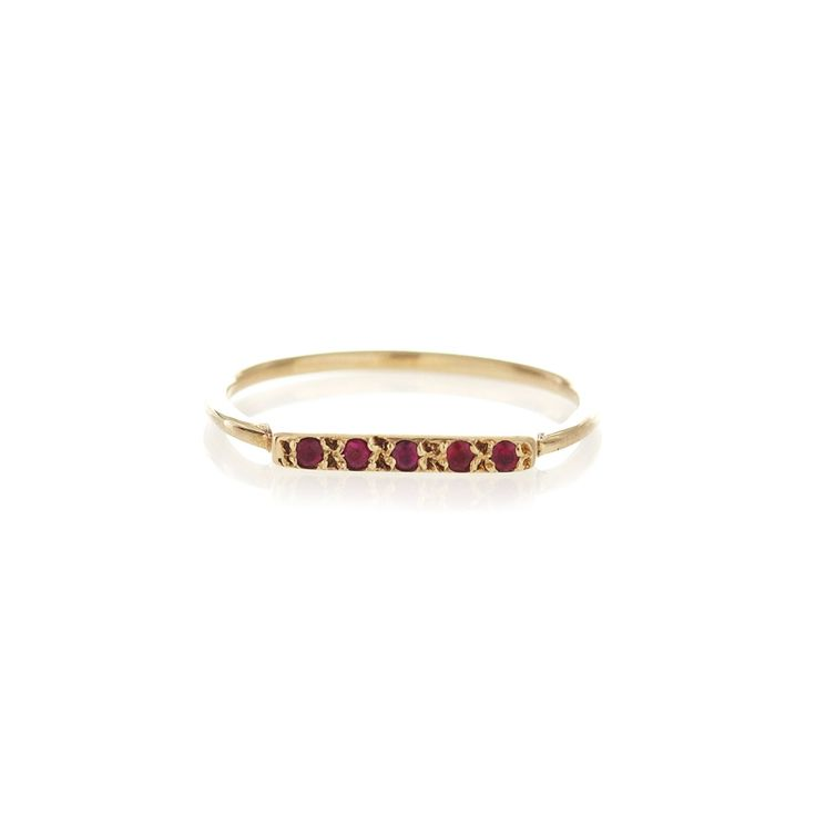 Ruby gold bar ring | Dear Rae | Online Shop