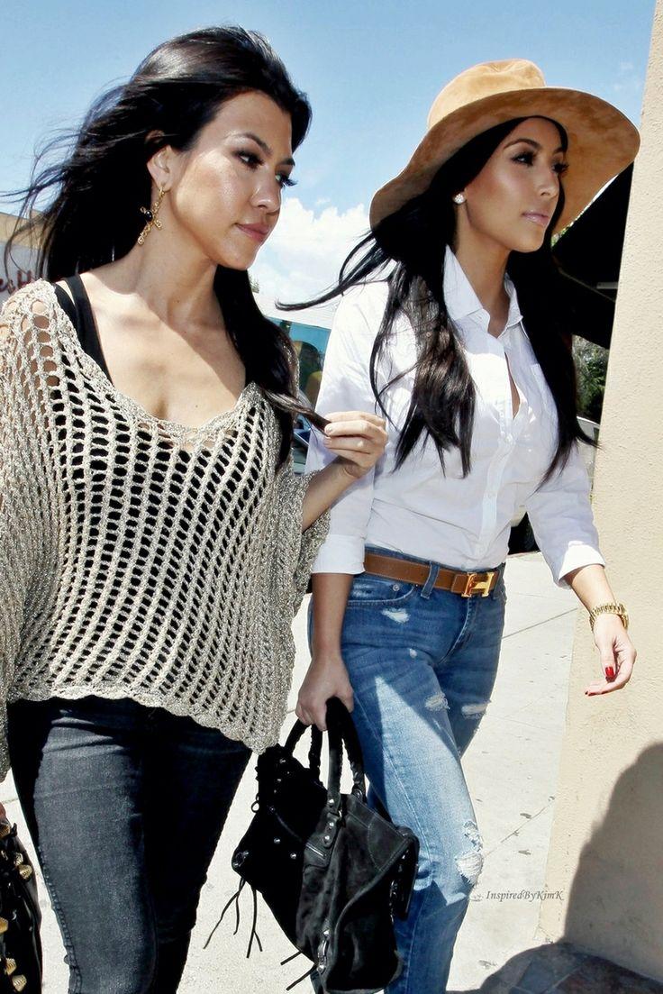 Kourtney and Kim Kardashian