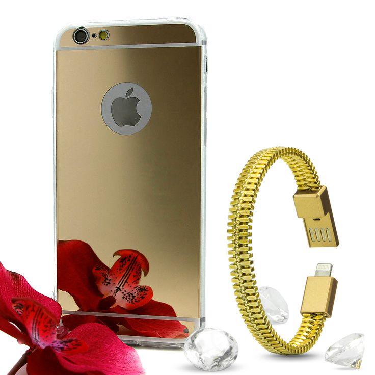 Das edelste und praktischste Set für dein Smartphone: die Schneewittchen Spiegel Case und das Armand Ladekabel von Mobilefox.                                                    Zu haben unter: https://www.amazon.de/dp/B01MZXEYGO  #Case #Phonecase #Mirrow #Spiegel #TPU #Accessoires #Handy #Phone #Smartphone #Diamant #Diamond #Gold #iPhone #Samsung #Flower #Blume #Armband #Bracelet #Ladekabel #Chargecable #Weihnachtsgeschenk #Geschenk #Frauengeschenk #Mädchengeschenk #Geschenkidee…