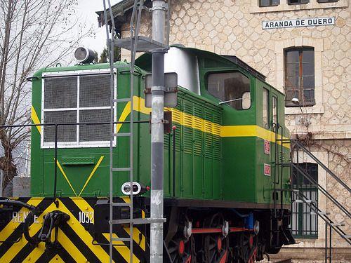 Estación-Museo del Tren en Aranda de Duero, Burgos.