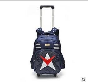 brand Children School Backpack on wheels Mochila Kids Trolley Bag Student travel luggage bag For Girl Boy's School Rolling Bags