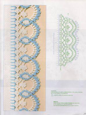 Eliana Pintura e Crochê: bicos de crochê com gráficos ççg hrş h.b