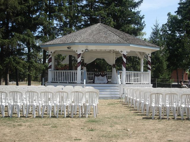 The gazebo set up for a #wedding at the Markham Museum located in Ontario, Canada.