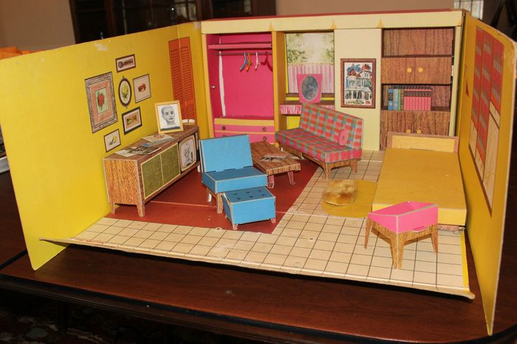 1962 Barbie Dream House Vintage Cardboard Dollhouse W: 1000+ Images About BARBIE DREAM HOUSE