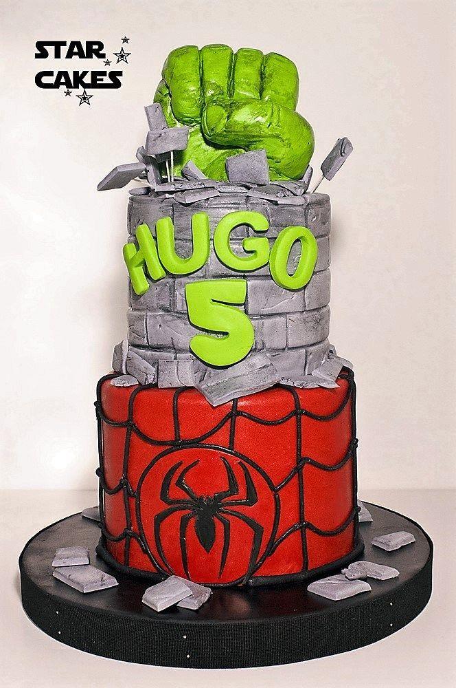 Tarta Hulk Spiderman, Tartas de Superheroes
