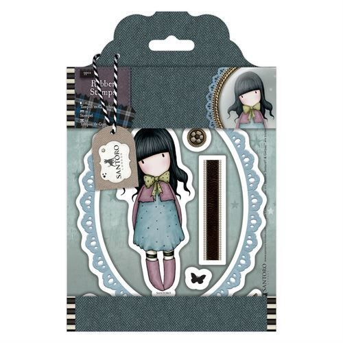 Gorjuss Santoro Tweed - Waiting rubber stamp