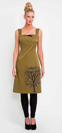 Faraway Tree Dress in Pea  Winter 2011