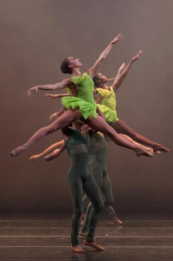 Love the fresh green. Dance Theatre of Harlem -