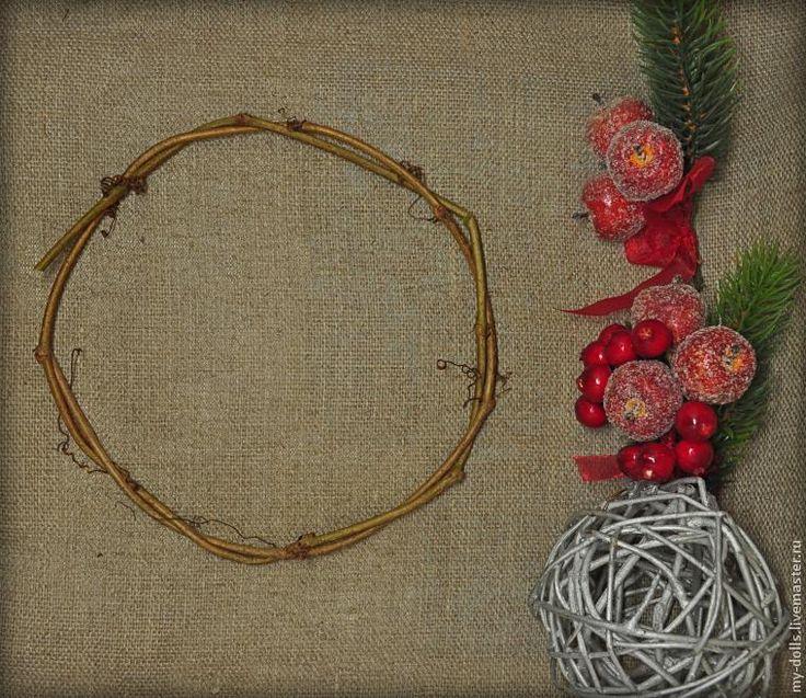 """Рождественский венок из лозы """"с нуля"""" - Ярмарка Мастеров - ручная работа, handmade"""