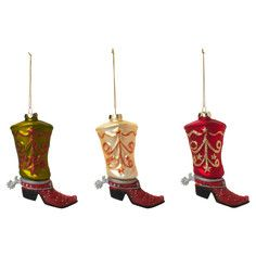 Boot Ornament Set Of 3, 13€, now featured on Fab.