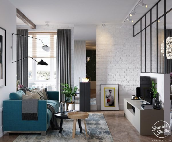 A Scandinavian Chic Style 3 Bedroom Apartment For A Young Family Parete Divisorio