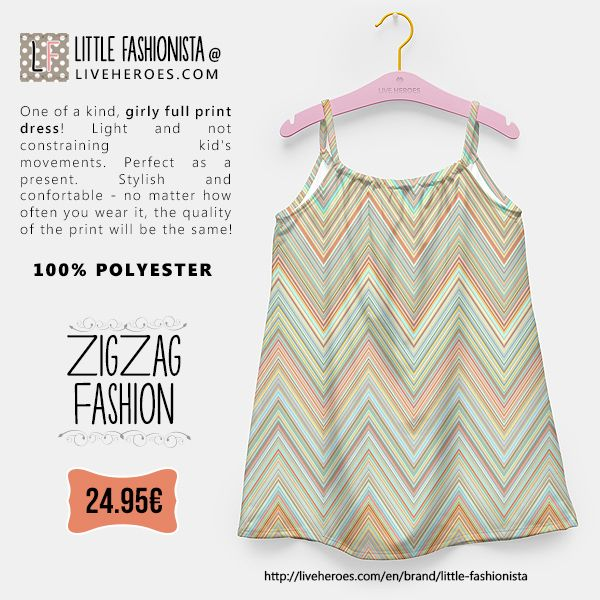 #chevron #zigzag #colorful #stylish #modern #aztec #fashion #lines #dress #girldress #fashion #liveheroes #liveheroesshop #littlefashionista