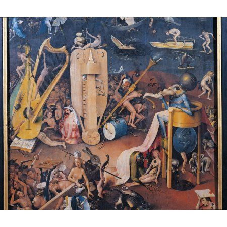 Garden Of Earthly Delights - Hell Music Canvas Art - (36 x 24)