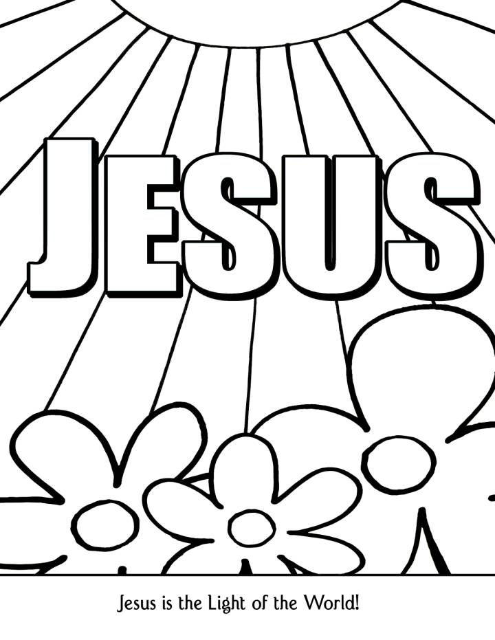 Jesus Light Of The World Coloring Page