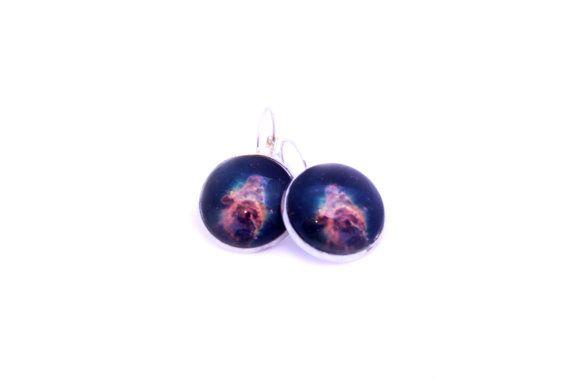 Carina Pillar Earrings Astronomy Glass by MajorTomJewellery https://www.etsy.com/nz/shop/MajorTomJewellery