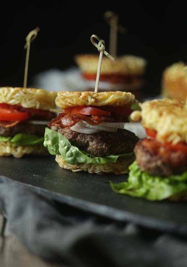 Mini Ramen Burger Sliders