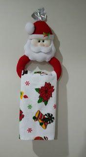 Moldes Para Artesanato em Tecido: Porta Pano de Prato de Natal com Moldes