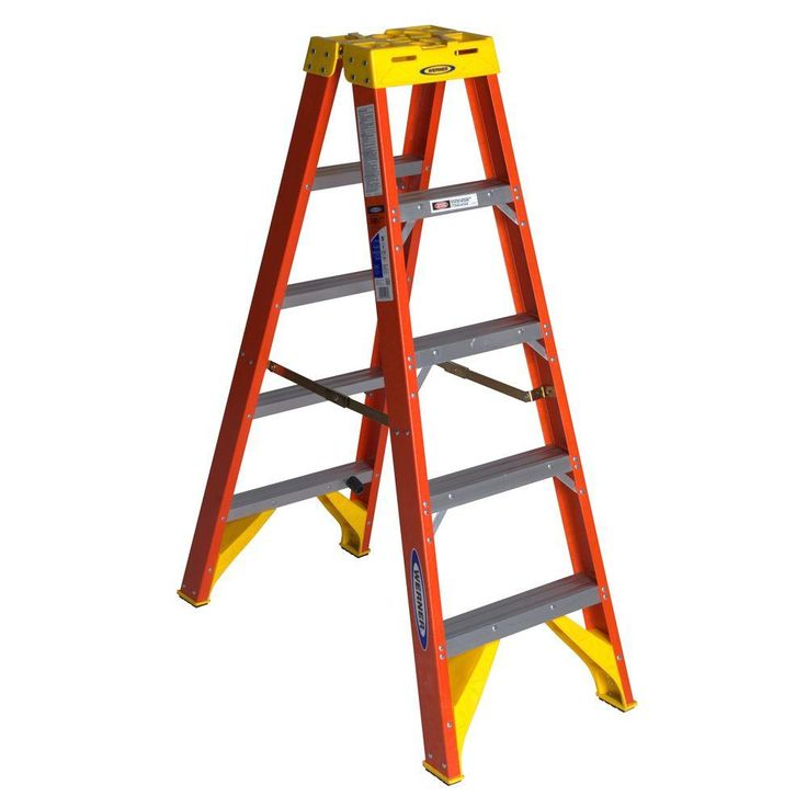 Werner 7300s 12 Ft Fiberglass Type 1aa 375 Lbs Capacity Step Ladder 7312s In 2020 Ladder Home Depot A Frame Ladder