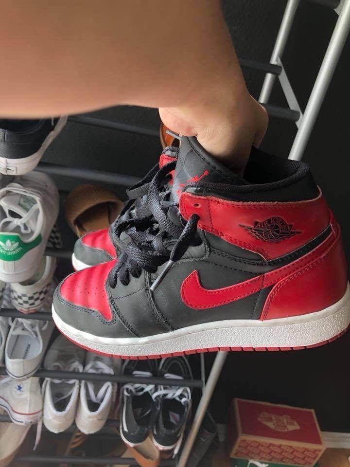 5bb3cf49d910 Nike Air Jordan Bred 1  fashion  clothing  shoes  accessories   kidsclothingshoesaccs