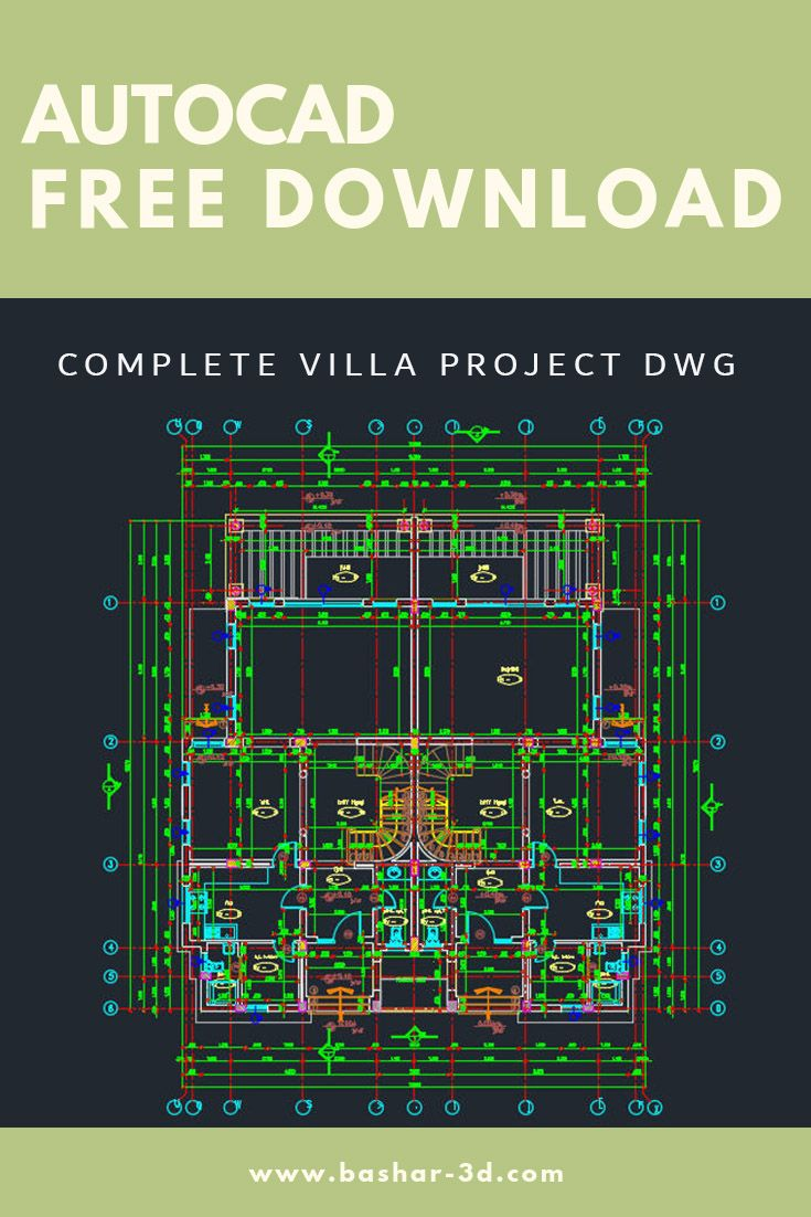 Complete Villa Project Dwg Free Download Autocad Autocad Free