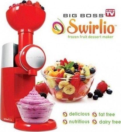 Μηχανή για Σορμπέ Φρούτων,Παγωμένο Γιαούρτι & Γρανίτες Swirliο