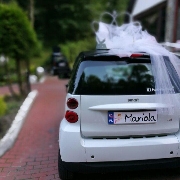 Czas wracać do domu! Młoda Para zadowolona :) www.smart-line.pl #zwariowanewesela #smartline #smartydoslubu #samochodnawesele #weddingcar #funycar #smartcar #atrakcjeslubne #wedding #justmarried #SmartPara
