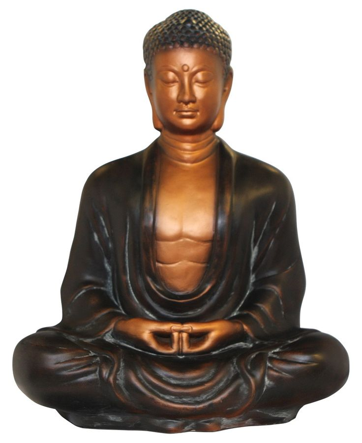 Antique bronze finish Buddha statue, made in Vietnam. Buddha statues available at Buddha Groove!