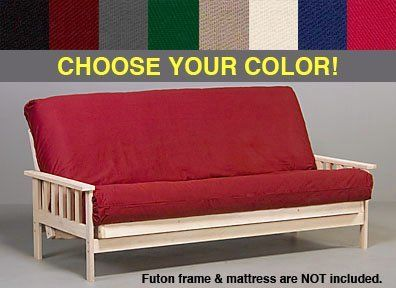 "Gray Premium Futon Cover - Full Size by World of Futons. $39.00. 6.5 oz heavyweight cotton/polycotton fabric.. Shipped to you via USPS Priority Mail with tracking.. Fits standard full size futon mattress (54"" x 75"") up to 8"" thick.. Heavy duty 3 sided zippers with double stitching throughout.. Colorfast & machine washable, kid and pet friendly.. Our premium futon mattress covers are made with superior quality materials and workmanship unlike the thin sheeting ma..."