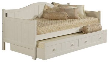 Hillsdale Staci Wood Daybed in White Finish with Trundle - transitional - Daybeds - Cymax