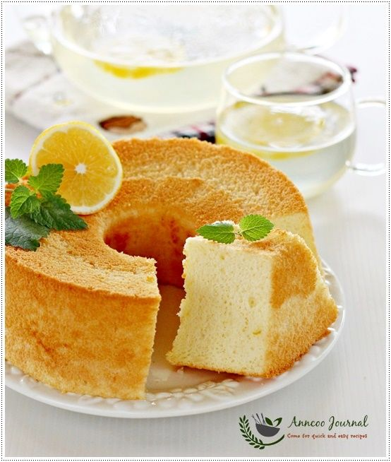Honey Lemon Chiffon Cake 蜂蜜柠檬戚风蛋糕 | Anncoo Journal - Come for Quick and Easy Recipes