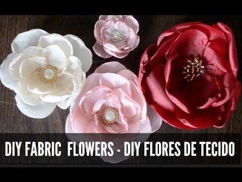 How to make fabric flowers:Flower made of chiffon tutorial/Цветы из ткани:цветок из шифона - YouTube
