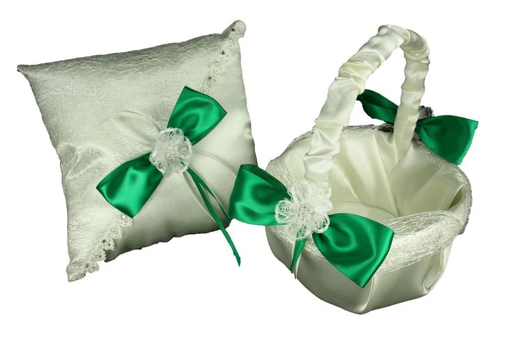 Wedding Cake Servers and Knives 102466: Ivory Wedding Basket And Ring Pillow Set Sisal Mesh Design Satin Bow -> BUY IT NOW ONLY: $32.95 on eBay!