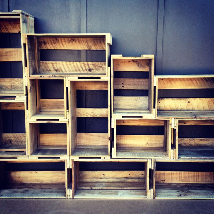 386 best images about pallet life australia on pinterest for Shelves made out of crates