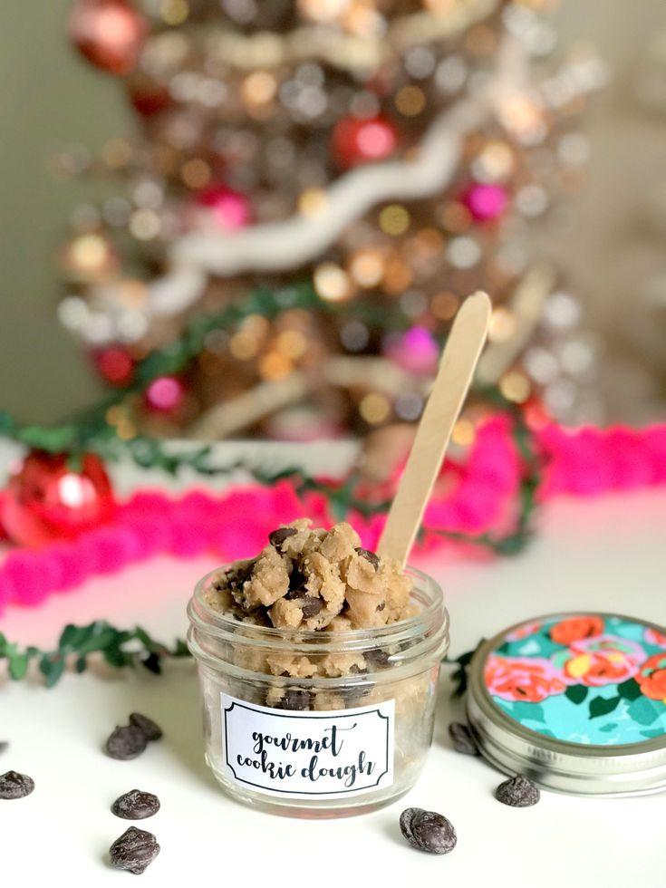 gourmet cookie dough recipe and edible Christmas gift ideas