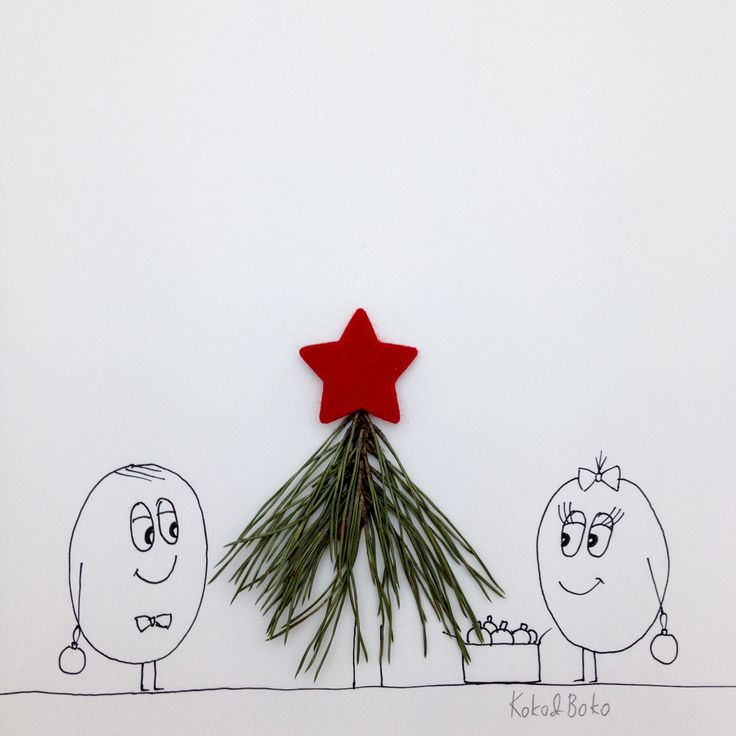 It's time to decorate! :)  http://instagram.com/kokoandboko #kokoboko #story #love #christmas #christmastree #smile #happy #drawing #illustration #art #star #red