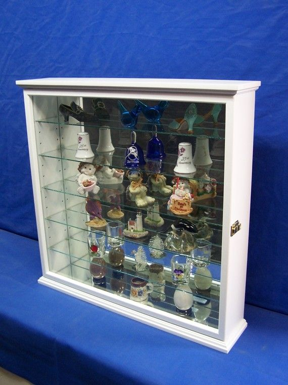 white wall curio cabinet by billscustomwoodworks on Etsy, $209.95