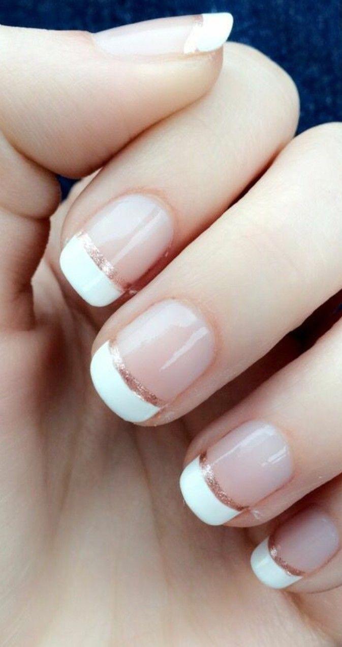 Картинки ногти белыми концами
