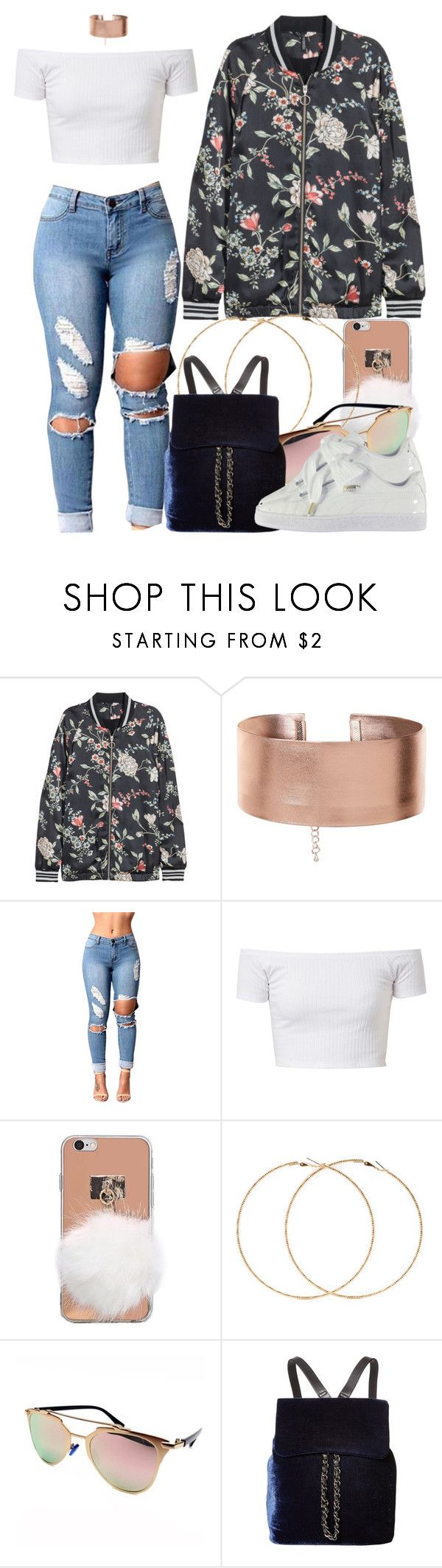 """""""2 23 17"""" by miizz-starburst ❤ liked on Polyvore featuring Forever 21, Steve Madden and Puma"""