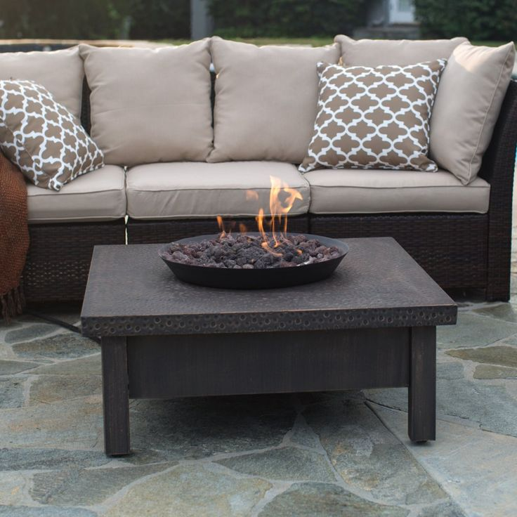Square Gas Fire Pit Table   Pair Your Outdoor Furniture With The Red Ember  Livingston 35 In. Square Gas Fire Pit Table To Ensure Youu0027re Always  Comfortable ... Part 78