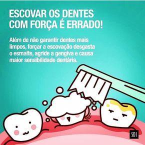 Pare de escovar com força!!! Esse ato só prejudica seus dentes e agride sua gengiva.  O ideal é que seja feita uma escovação de forma suave, de pelo menos 2 minutos de duração e que alcance todos os dentes!  Dra. Mônica  (16) 3024.7413  #dentes #dentista #escovação #Odonto #odontologia #dentist #saúde #dentistry