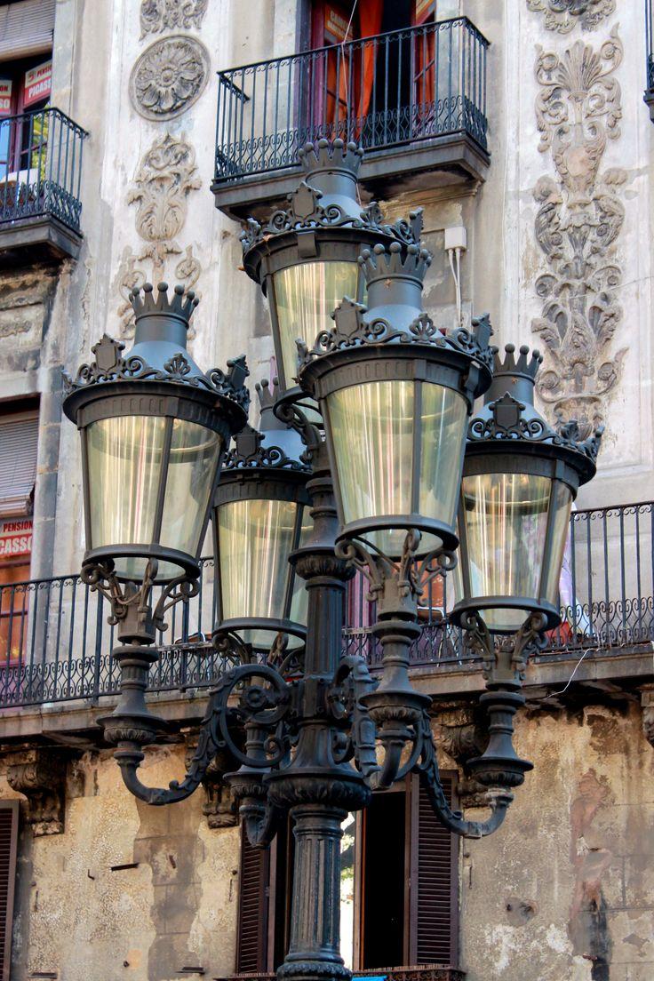 City lights of Barcelona