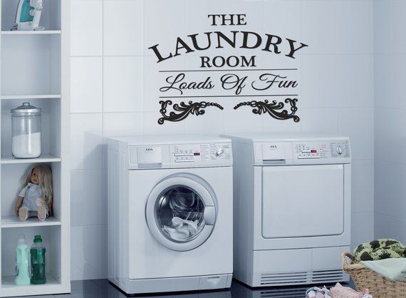 Laundry Room Wall Decal Laundry Wall Decals Laundry Room Wall
