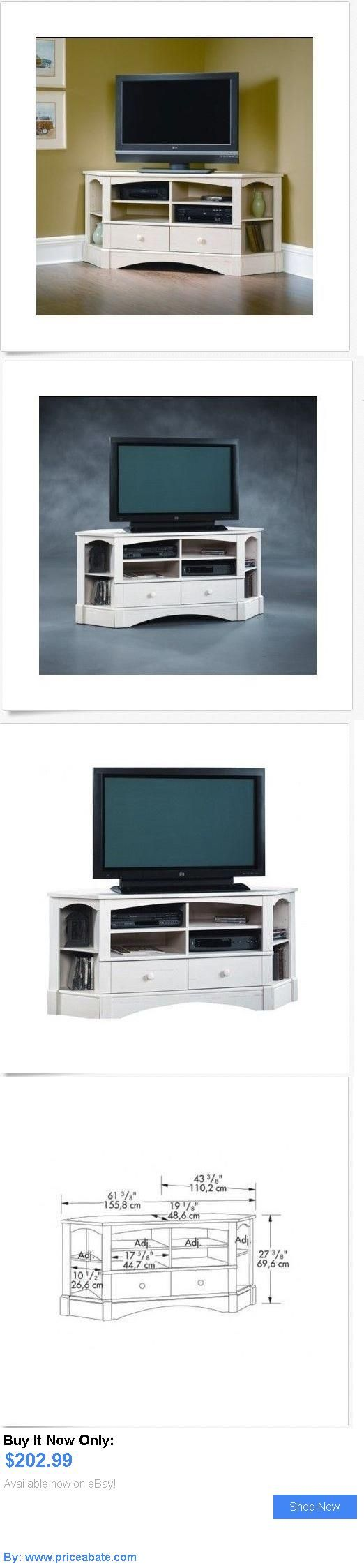 Entertainment Units, TV Stands: Home Entertainment Corner Tv Stand Cabinet Wood Console Media White Rustic New BUY IT NOW ONLY: $202.99 #priceabateEntertainmentUnitsTVStands OR #priceabate