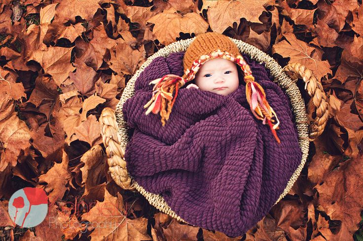 Cute Fall Baby/Newborn Poses by Chattanooga's Kid and Family Photographers! Photo by www.kenneyphoto.com  Facebook: www.facebook.com/KenneyPhoto