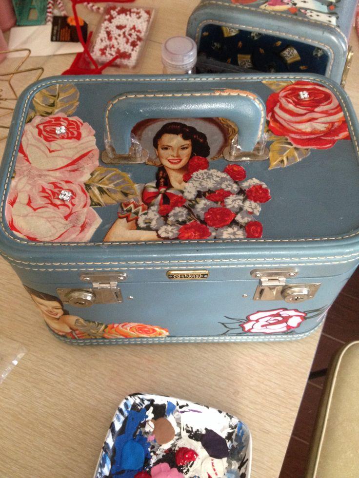 My work-vintage train case