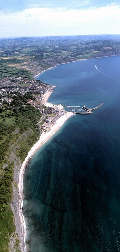 Stunning aerial view of Lyme Regis, UK So lucky to have this just 25 minutes from where I live :)