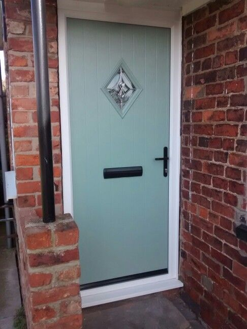 Cottage Composite Door Safe Style Uk Green And Black In