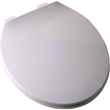 Plum Best White Round Contemporary Toilet Seat, Multicolor