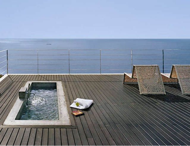 simple rooftop swimming pool design 639 491